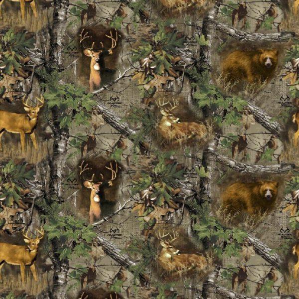Real Tree Burlap Deers