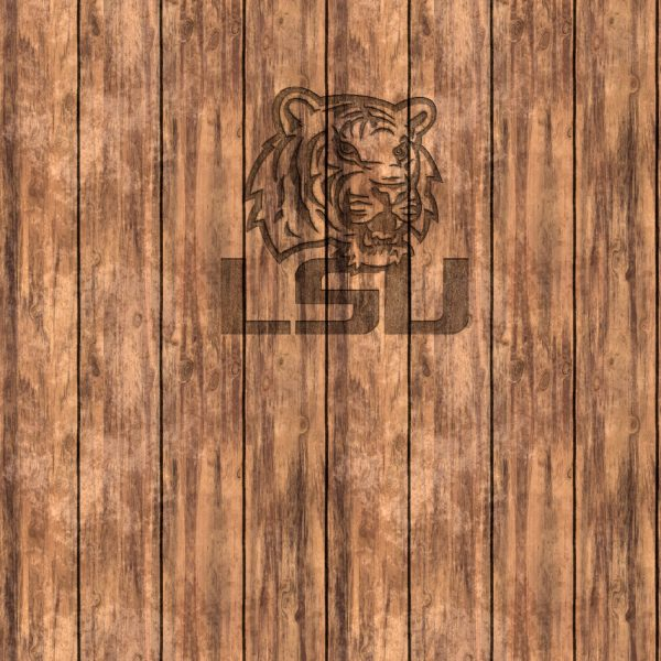 Louisiana State University Tigers on Wood 11x16