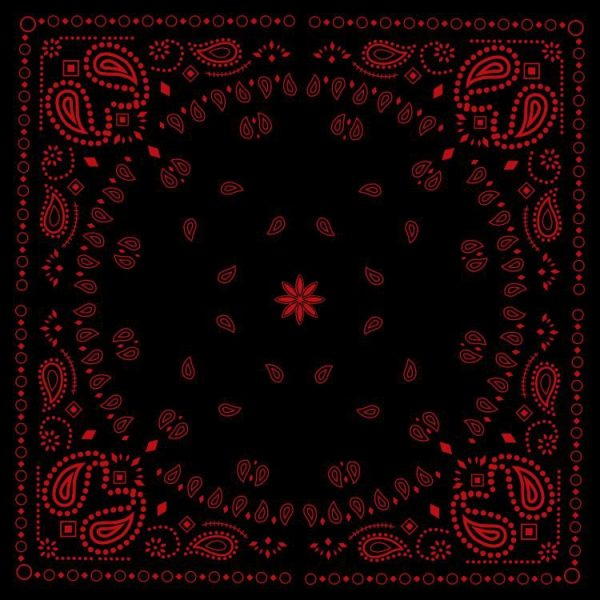 Black & Red Bandanna