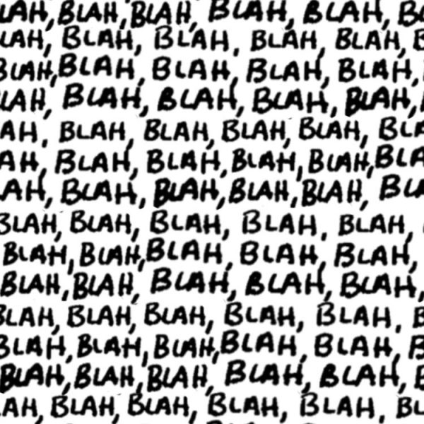 Blah Blah Blah 25 Transparent