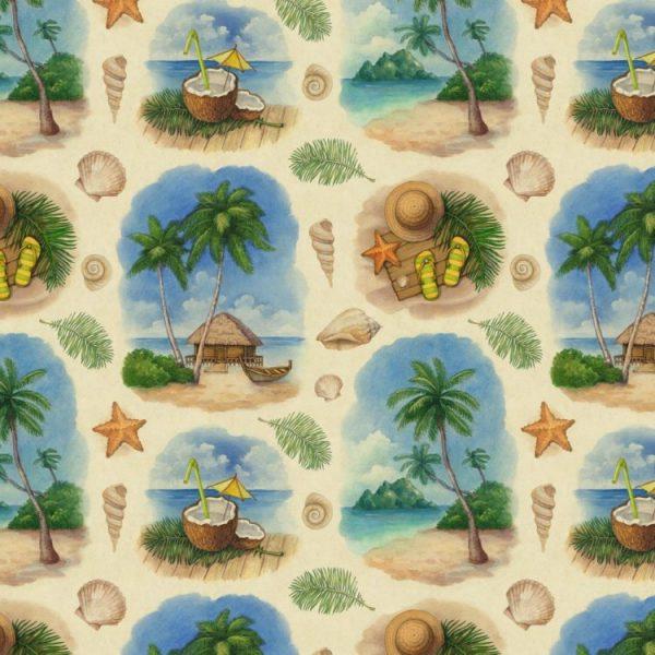 Island Beach Watercolor