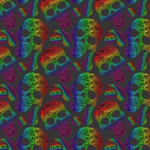 Paisley Skulls 24
