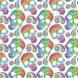 Paisley Skulls 23