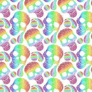 Paisley Skulls 22