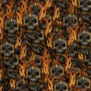 Head Shot Skulls on Fire