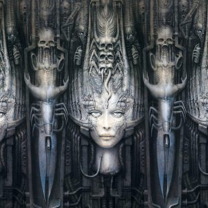 Giger Face Wall XVII