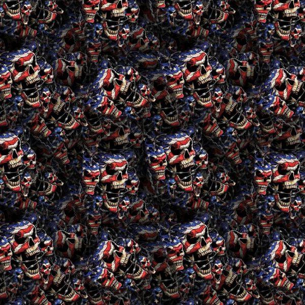 Barb Wire American Flag Skulls