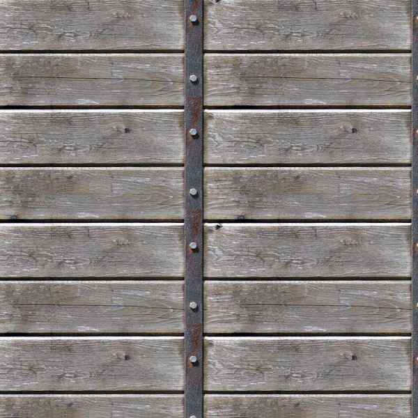 Weathered Wood with Iron Strap