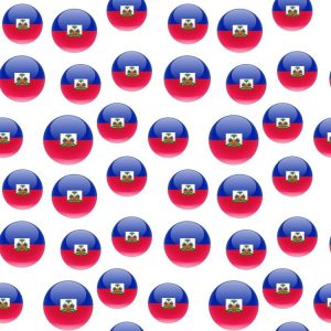 Haitian Flag Round