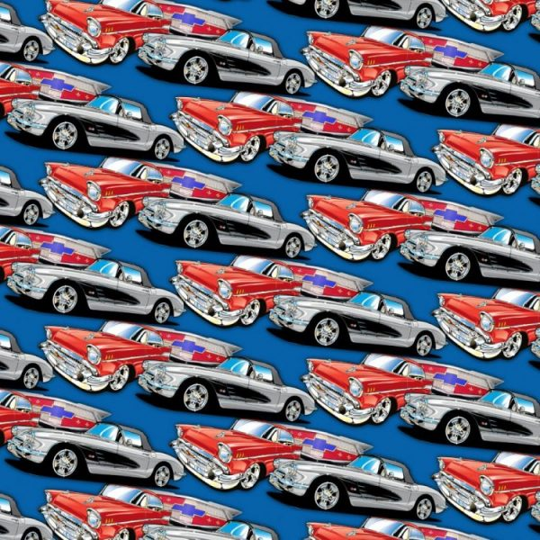 57 Chevys Blue