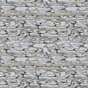 Whitewashed Stone Foundation