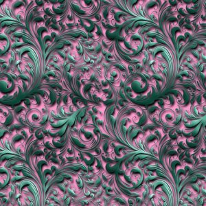 Teal and Pink Filigree