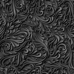 Black Paper Flowers