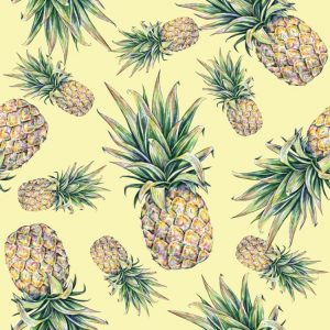 Watercolor Pineapple 23