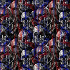 Thin Blue Line Skulls with Smoke