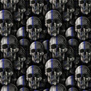 Thin Blue Line Skulls 22