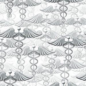 Silver Caduceus 24