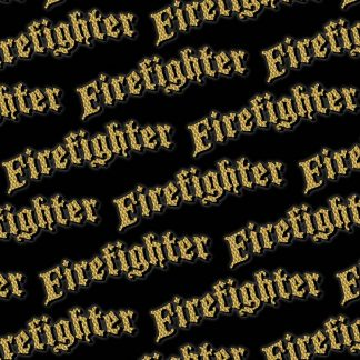 Firefighter Engine Turned Gold 23