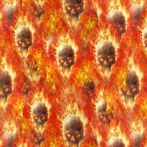 Flaming Vampire Skulls 22