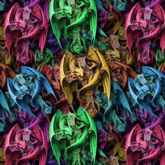 Dragon Cross Multi Color