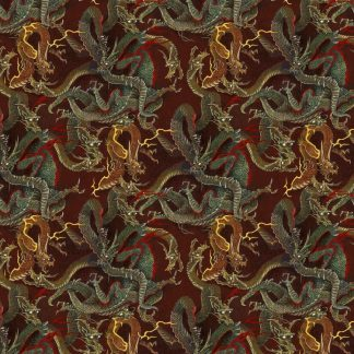 Burgundy Chinese Dragons