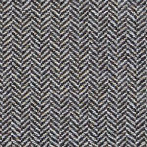Grey Herringbone Wool Tweed