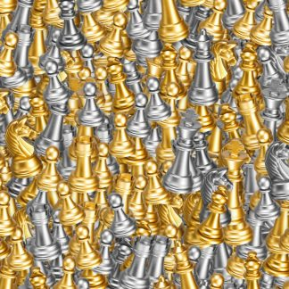 Gold and Silver Chess Pieces