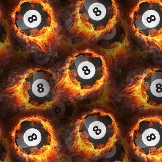 Flaming Eight Balls