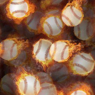 Flaming Baseballs 22