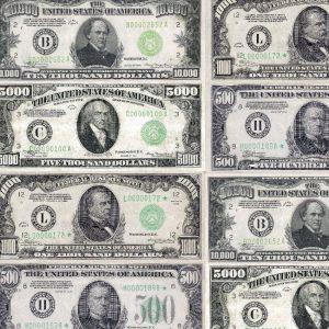 Large US Bills 22