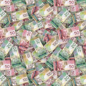 Canadian Mixed Dollar Bills
