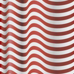Waving American Flag Red Stripe Field