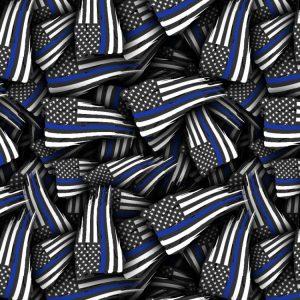 Thin Blue Line Flag Tattered