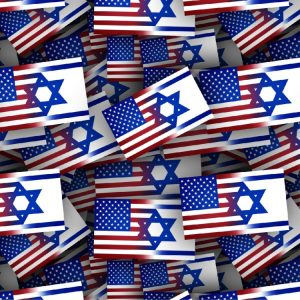American and Israel Flag