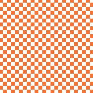 Orange Checkered Flag