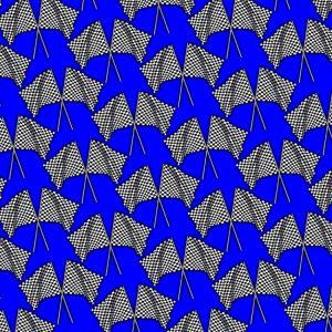 Checkered Flags 24 Blue