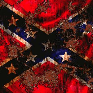 Grunge Rusty Rebel Flag