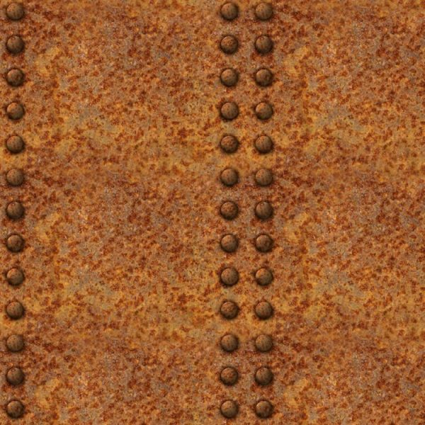 Rusty Riveted Plate 22