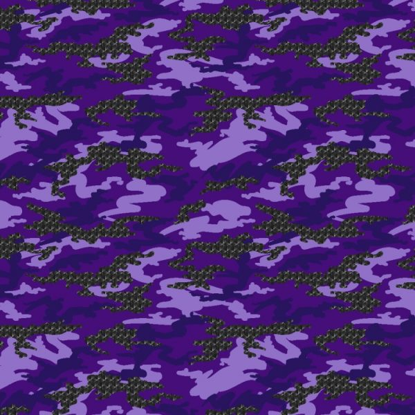 Purple Triaxial Carbon Fiber Camo