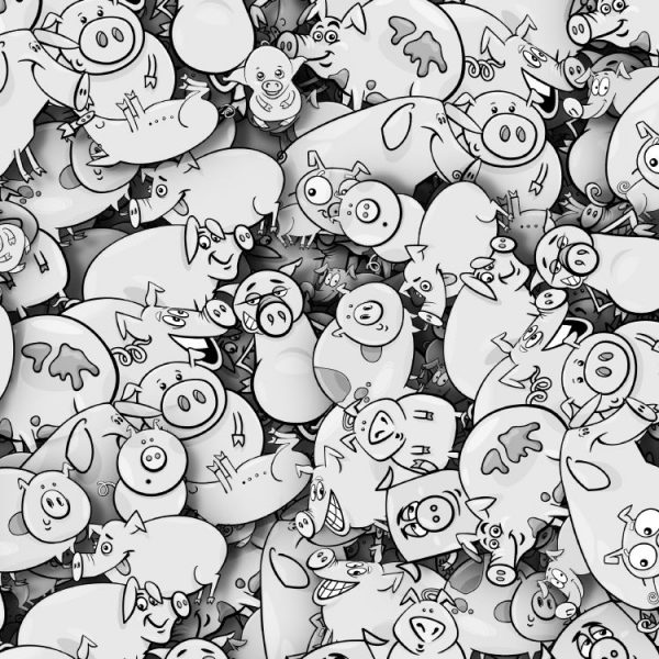 Cartoon Pigs 26