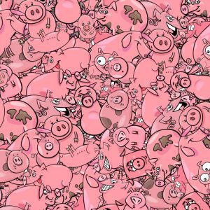 Cartoon Pigs 24