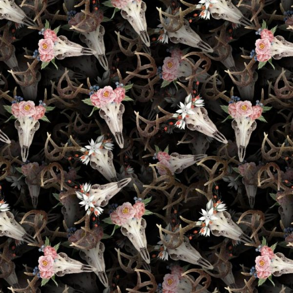 Flower Deer Skulls