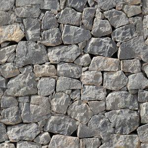 Dry Stack Granite Wall