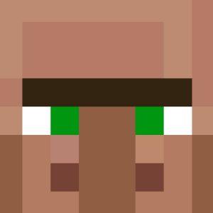 Minecraft Villager Head