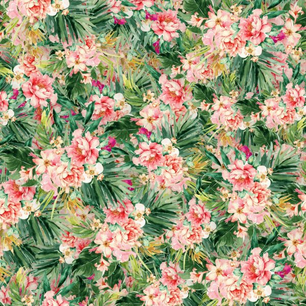 Tropical Watercolor Flowers