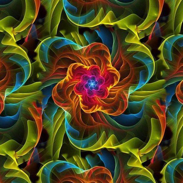 Fractal Rainbow Flower