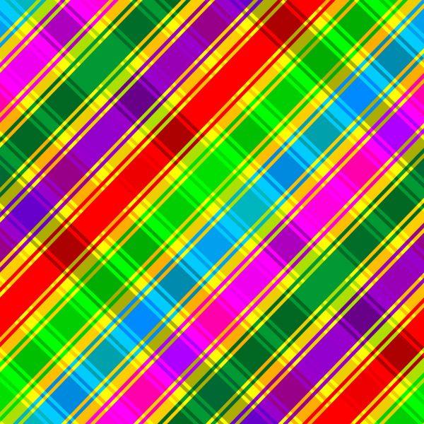 Rainbow Plaid 23
