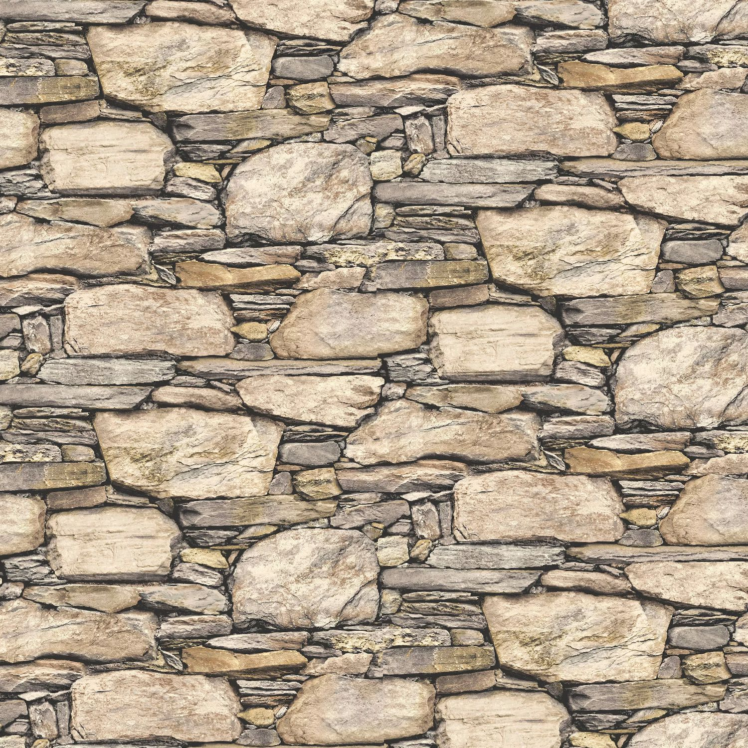 Dry Stacked Sand Stone Wall