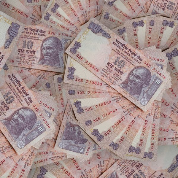 Fanned Rupees