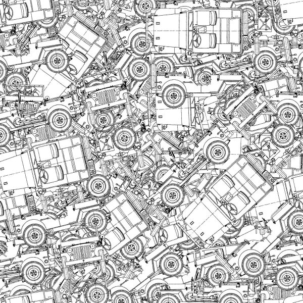 Jeep Willys Drawings 22